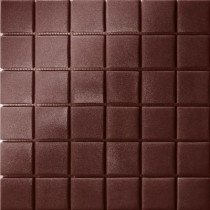 Elementz 12.5 in. x 12.5 in. Capri Marrone Grip Glass Tile-DISCONTINUED