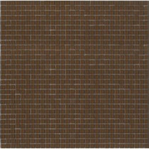 Elementz 12.8 in. x 12.8 in. Venice Cameo Brown Glossy Glass Tile-DISCONTINUED