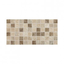 Daltile Stratford Place Stratford Blend 12 in. x 24 in. x 6 mm Mesh-Mounted Ceramic Mosaic Floor/Wall Tile (24 sq. ft. / case)
