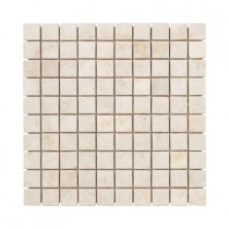Jeffrey Court Creama 12 in. x 12 in. x 8 mm Mosaic Marble Floor/Wall Tile