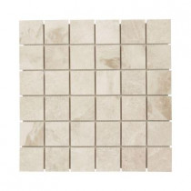 Jeffrey Court Cappuccino 12 in. x 12 in. x 8 mm Marble Mosaic Wall Tile