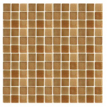 EPOCH Spongez S-Brown-1410 Mosaic Recycled Glass 12 in. x 12 in. Mesh Mounted Floor & Wall Tile (5 sq. ft.)
