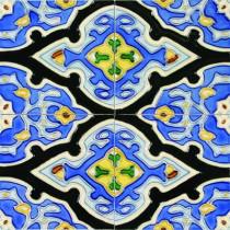 Solistone Hand Painted Ceramic Vereda Deco 6 in. x 6 in. x 6.35mm Ceramic Wall Tile (2.5 sq. ft./case)