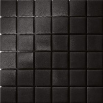 Elementz 12.5 in. x 12.5 in. Capri Nero Grip Glass Tile-DISCONTINUED