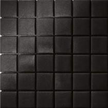 Elementz 12.5 in. x 12.5 in. Capri Nero Grip Glass Tile-DISCONTINUED