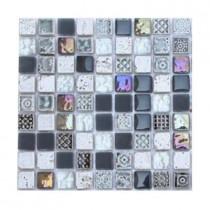 Splashback Tile Aztec Art City Slicker Grey Glass Tile Sample