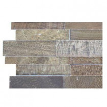 Splashback Tile Dimension 3D Brick Wood Onyx Pattern - 6 in. x 6 in. Floor and Wall Tile Sample