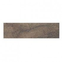 Daltile Aspen Lodge Midnight Blaze 3 in. x 12 in. Porcelain Bullnose Floor and Wall Tile-DISCONTINUED