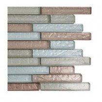 Splashback Tile Metallic Cleopatra Harmony Glass Tile - 6 in. x 6 in. Tile Sample-DISCONTINUED