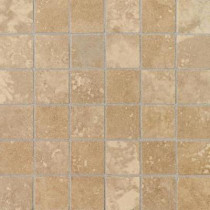 Daltile Pietre Vecchie Warm Walnut 12 in. x 12 in. x 8 mm Porcelain Sheet Mounted Mosaic Floor/Wall Tile (14.33 sq. ft. / case)