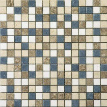 U.S. Ceramic Tile Orion 16 in. x 16 in. Multi-Color Porcelain Mesh-Mounted Mosaic Tile-DISCONTINUED