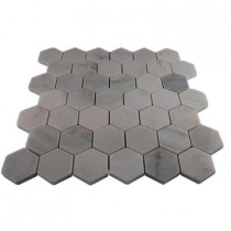 Splashback Tile Oriental Hexagon 12 in. x 12 in. x 8 mm Marble Floor and Wall Tile