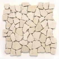 Solistone Indonesian Jakarta Moon 12 in. x 12 in. x 6.35mm Natural Stone Pebble Mesh-Mounted Mosaic Tile (10 sq. ft. / case)