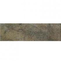 Daltile Portenza Verde Lago 3 in. x 14 in. Glazed Porcelain Bullnose Floor and Wall Tile