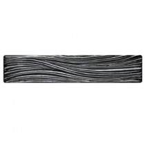 Studio E Edgewater Currents Black Sand 7-7/8 in. x 1-5/8 in. Glass Liner Wall Tile-DISCONTINUED