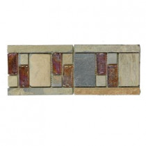 Jeffrey Court Aspen 4 in. x 10 in. x 8 mm Glass and Slate Wall Tile