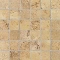 Daltile Pietre Vecchie Golden Sienna 12 in. x 12 in. x 8mm Porcelain Sheet Mounted Mosaic Floor/Wall Tile (14.33 sq. ft. / case)