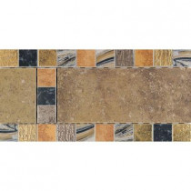 Daltile Terra Antica Oro 6 in. x 12 in. Porcelain Decorative Accent Floor and Wall Tile