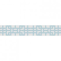 Mosaic Loft Lattice Breeze Border 117.5 in. x 4 in. Glass Wall and Light Residential Floor Mosaic Tile