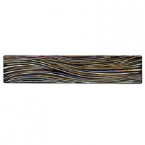 Studio E Edgewater Currents Dusk 7 7/8 in. x 1 5/8 in. Glass Liner Wall Tile-DISCONTINUED