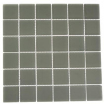 Splashback Tile 12 in. x 12 in. Contempo Natural White Frosted Glass Tile-DISCONTINUED