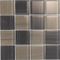 EPOCH Brushstrokes Grigio-1504-3 Mosaic Glass Mesh Mounted - 4 in. x 4 in. Tile Sample-DISCONTINUED