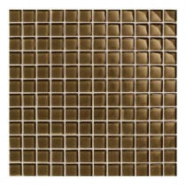 Daltile Maracas Tortoise 12 in. x 12 in. 8 mm Glass Mesh-Mounted Mosaic Wall Tile