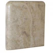 U.S. Ceramic Tile Fresno 3 in. x 3 in. Ocre Ceramic Bullnose Corner Wall Tile-DISCONTINUED