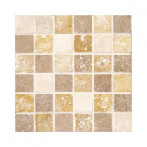 Jeffrey Court Travertine Medley 12 in. x 12 in. x 8 mm Mosaic Wall Tile