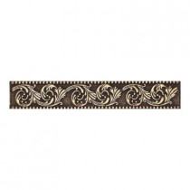 Daltile Massalia Bullion 1 in. x 6 in. Metal Frieze Liner Wall Tile-DISCONTINUED