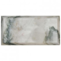 Jeffrey Court Beveled White 4 in. x 8 in. x 10 mm Marble Wall Tile (1 pk /9 pcs / 2 sq. ft.)
