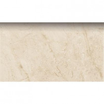 PORCELANOSA Romo Botticino 3 in. x 8 in. Natural Ceramic Bullnose Trim Tile-DISCONTINUED