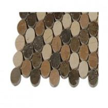 Splashback Tile Orbit Amber Ovals Marble Tile Sample