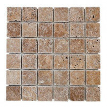 Jeffrey Court Noce 12 in. x 12 in. x 8 mm Travertine Mosaic Floor/Wall Tile