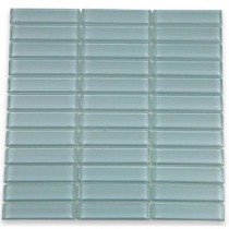 Splashback Tile 12 in. x 12 in. Contempo Blue Gray Polished Glass Tile