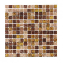 Jeffrey Court Verona 12 In. x 12 In. x 4 mm Glass Mosaic Wall Tile