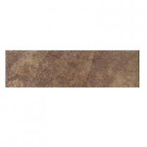 Daltile Aspen Lodge Cotto Mist 3 in. x 12 in. Porcelain Bullnose Floor and Wall Tile-DISCONTINUED