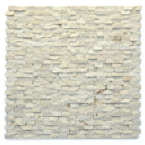 Solistone Modern Fauve 12 in. x 12 in. x 9.5mm Marble Natural Stone Mesh-Mounted Mosaic Wall Tile (10 sq. ft./ case)