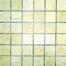 MS International Luxor Gold 12 In. x 12 In. 10 mm Honed Limestone Mesh-Mounted Mosaic Tile