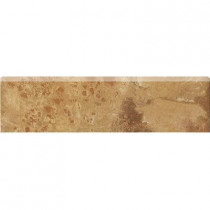MARAZZI Jade 3 in. x 13 in. Ochre Porcelain Bullnose Trim Floor and Wall Tile