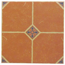 U.S. Ceramic Tile Terra Cotta 16 in. x 16 in. Ceramic Floor Tile (14.22 sq.ft./case)