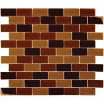 MS International Brown Blend 12 in. x 12 in. x 8 mm Glass Mesh-Mounted Mosaic Tile