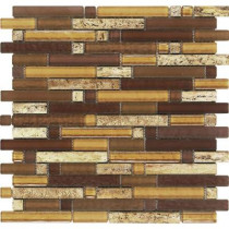Epoch Architectural Surfaces Varietals Aligote-1650 Stone And Glass Blend Mesh Mounted Floor and Wall Tile - 3 in. x 3 in. Tile Sample