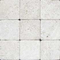 MS International Chiaro 4 in. x 4 in. Tumbled Travertine Floor and Wall Tile (1 sq. ft. / case)
