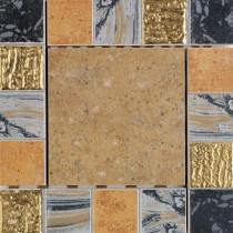 Daltile Terra Antica Oro 6 in. x 6 in. Porcelain Decorative Corner/Insert Accent Floor and Wall Tile