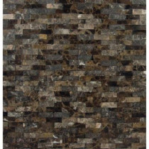 MS International Emperador Splitface 12 in. x 12 in. x 10 mm Marble Mesh-Mounted Mosaic Tile
