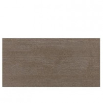 Daltile Identity Oxford Brown Grooved 12 in. x 24 in. Polished Porcelain Floor and Wall Tile (11.62 sq. ft. / case)-DISCONTINUED