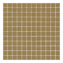 Daltile Maracas Raffia Gold 12 in. x 12 in. 8mm Frosted Glass Mesh-Mounted Mosaic Wall Tile (10 sq. ft. / case)-DISCONTINUED