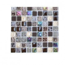 Splashback Tile Aztec Art Lumberjack Glass Tile Sample