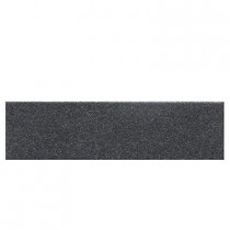 Daltile Colour Scheme Black Speckled 3 in. x 12 in. Porcelain Bullnose Floor and Wall Tile
